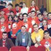 """Команда факультетеа ВМС """"SIMMBIOS"""" с Деканом Ковал"""