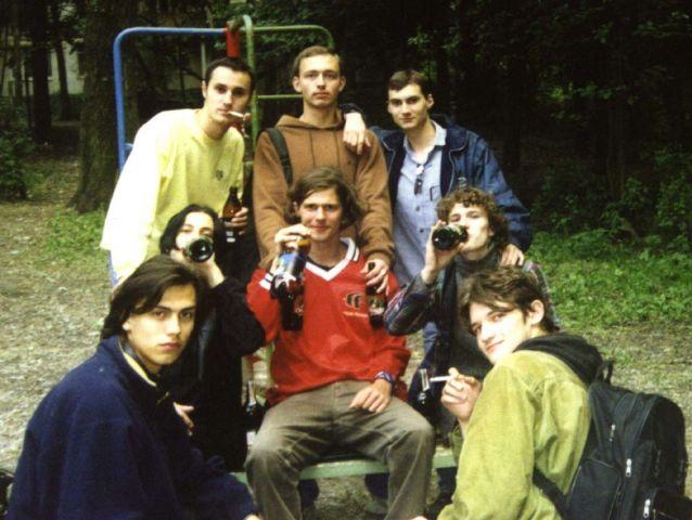 Подготовка к экзамену в Рябинке, 2002