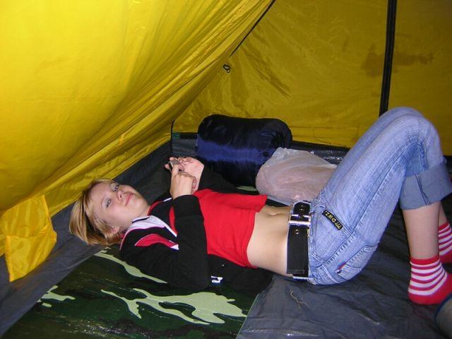 На улице дождь... а в палатке уютно!