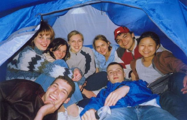 палатка изнутри...