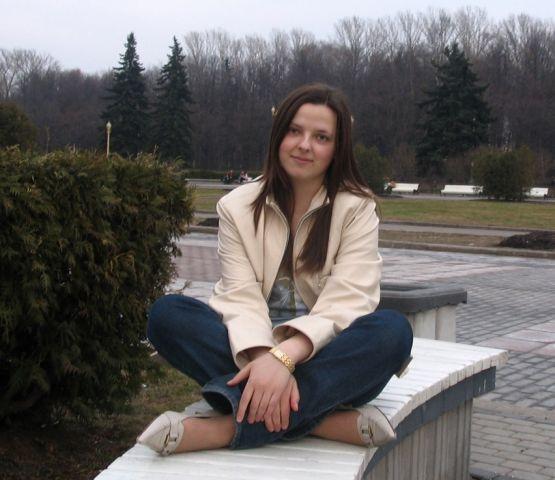 Без спецэффектов ) Фото в сквере МГУ.